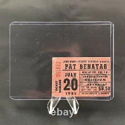 Pat Benetar Seattle Center Coliseum WA Concert Ticket Stub Vintage July 20 1981