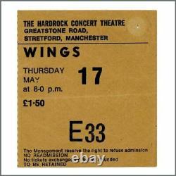 Paul McCartney & Wings 1973 Hardrock Theatre Manchester Concert Ticket Stub (UK)
