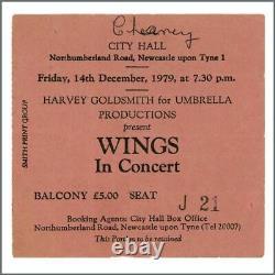 Paul McCartney & Wings 1979 City Hall Newcastle Concert Ticket Stub (UK)
