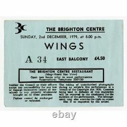Paul McCartney & Wings 1979 The Brighton Centre Concert Ticket Stub (UK)