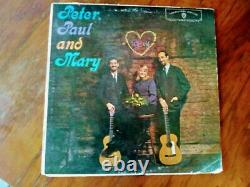 Peter Paul and Mary hi-fi album Autographed at 1964 concert, with my ticket stub
