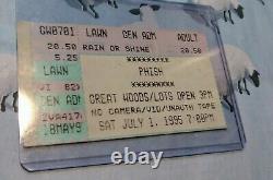 Phish Great Woods Concert Ticket Stub Vintage July 1, 1995