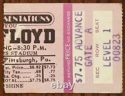 Pink Floyd-1975 RARE Concert Ticket Stub (Pittsburgh-Three Rivers Stadium)