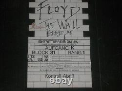 Pink Floyd 1981 The Wall Tour Concert Ticket Stub Dortmund Germany Feb. 15,1981