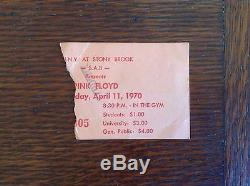 Pink Floyd, Trademark Moo, April 11, 1970, Stony Brook, NY, Concert Ticket Stub