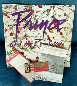 Prince 1984-1985 World Tour Concert Souvenir Picture Book Plus Ticket Stub