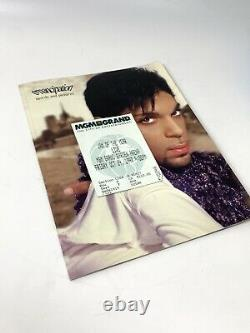 Prince Emancipation 1997 Words and Pictures Concert Book Program with Ticket stub