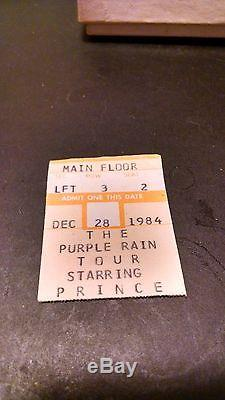 Prince Purple Rain 1984-85 Concert T-Shirt & Ticket Stub From Minnesota Concert