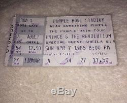 Princes Purple Tambourine From Concert With Ticket Stub