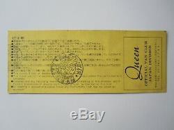 QUEEN 1979 Budokan Tokyo Japan Concert Ticket Stub Japanese Tour 14.04.1979