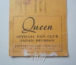 QUEEN 1979 Budokan Tokyo Japan Concert Ticket Stub Japanese Tour 24.04.1979