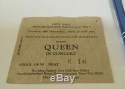 QUEEN 1979 Concert Ticket Stub Newcastle City Hall
