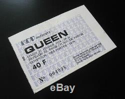 QUEEN 1979 Paris France Concert Ticket Stub Live Killers Tour 27.02.1979
