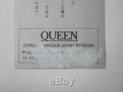 QUEEN 1981 Budokan Tokyo Japan Concert Ticket Stub Japanese Tour 18.02.1981