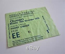QUEEN Apollo Theatre Manchester 1979 UK Crazy Tour Concert Ticket Stub