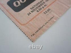 QUEEN Birmingham NEC 1979 UK Crazy Tour Concert Ticket Stub Freddie Mercury