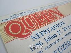 QUEEN Budapest Nepstadion Hungary 1986 A Kind Of Magic Tour Concert Ticket Stub