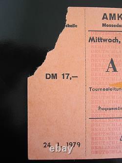 QUEEN Live Killers 1979 German Crazy Tour Concert Ticket Stub Deutschland