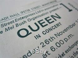QUEEN Manchester Free Trade Hall 1975 Concert Ticket Stub UK Tour