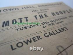 QUEEN Mott The Hoople Support Birmingham 1973 UK Tour Concert Ticket Stub