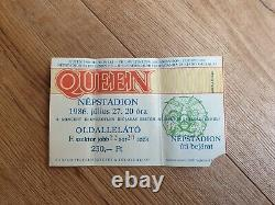 QUEEN Nepstadion Budapest Hungary 1986 Tour Concert Ticket Stub