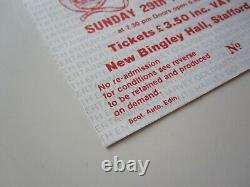 QUEEN New Bingley Hall Stafford 1977 UK Tour Concert Ticket Stub