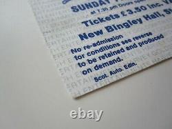 QUEEN New Bingley Hall Stafford 1978 Tour Concert Ticket Stub 7.5.1978