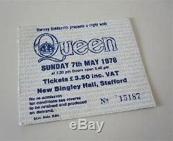QUEEN New Bingley Hall Stafford UK Tour Concert Ticket Stub 7th May 1978