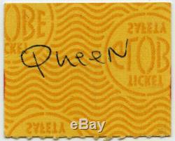 QUEEN Original 1975 Concert Ticket Stub Super Rare