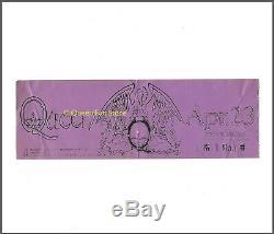 QUEEN Original 1975 Kobe Japan Sheer Heart Tour Japanese Concert Ticket Stub