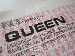 QUEEN Paris France Concert Ticket Live Killers Tour French Stub 28.02.1979