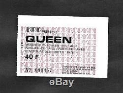 QUEEN Vintage Paris 1979 French Concert France Ticket Stub Freddie Mercury