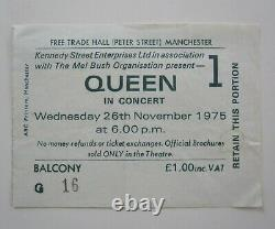 Queen A Night At The Opera 1975 Tour Manchester UK Concert Ticket Stub