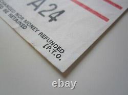 Queen Birmingham Odeon UK Tour Concert Ticket Stub 9th December 1975