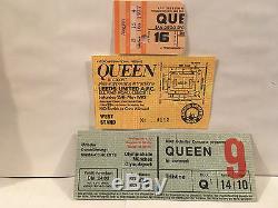 Queen Concert Ticket Stubs Set Of 3