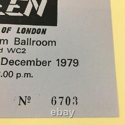 Queen Crazy Tour The Lyceum Ballroom 1979 UK Concert Ticket + Stub Rare