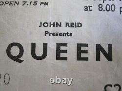Queen Edinburgh Playhouse 1976 UK Tour Concert Ticket Stub Freddie Mercury