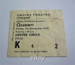Queen Empire Theatre Liverpool 1979 UK Crazy Tour Concert Ticket Stub
