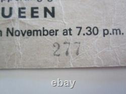 Queen (Mott The Hoople) 1973 Caley Picture House Edinburgh Concert Ticket Stub