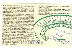 Queen Nepstadion Budapest Hungary 1986 Concert Ticket Stub (rare 230 Forint)