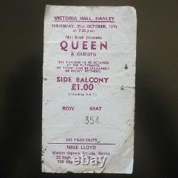 Queen Victoria Hall Hanley 1974 Concert Ticket Stub Sheer Heart Attack UK Tour