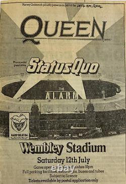 Queen Wembley Stadium 1986 Concert Ticket Stub Freddie Mercury Magic Tour