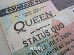 Queen Wembley Stadium 1986 Concert Ticket Stub UK Magic Tour Freddie Mercury