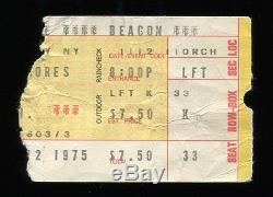 RAINBOW Concert Ticket Stub 11-12-1975 1st US Show Dio Blackmore Elf Deep Purple
