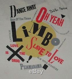 RARE 1988 Bryan Ferry/Roxy Music Bete Noire Concert T shirt & Ticket Stub