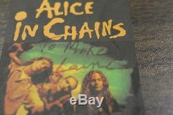 RARE Alice in Chains 1993 Concert Ticket Stub Signed by Layne Staley Dirt Tour