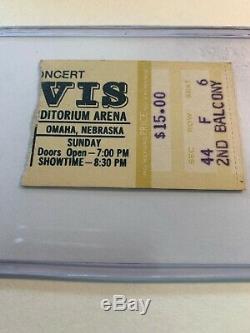 RARE Elvis 1977 CBS Special Omaha Concert Ticket Stub / Last Tour