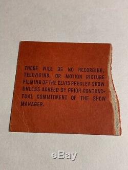 RARE Elvis Madison Square Garden Concert Ticket Stub LP Recording Show