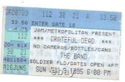 RARE Grateful Dead 7/9/95 Chicago Ticket Stub! Jerry Garcia LAST CONCERT EVER