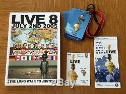RARE LIVE 8 AID CONCERT TICKET STUB, PROGRAMME & EXTRAS 2nd July 2005